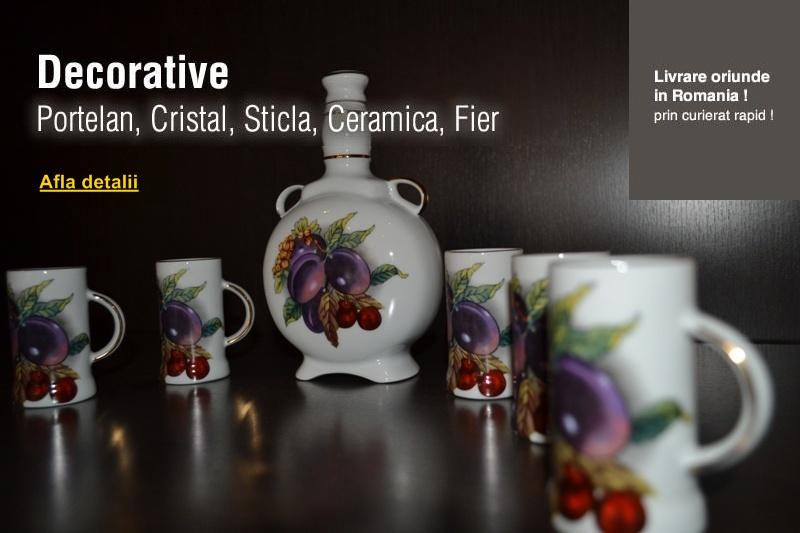 Produse decorative, sticla, ceramica, portelan, cristal, fier