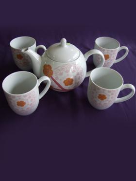 Set ceai, oriental 5 piese 1284/3943/15174